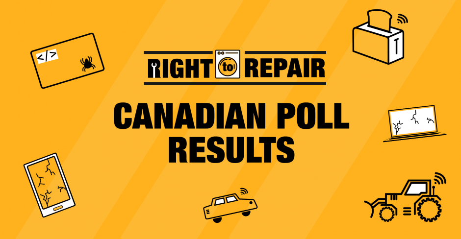 Image for OpenMedia Community-Funded Poll Reveals 75% of Canadians Support Right to Repair!