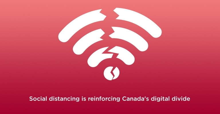 Image for Social distancing is reinforcing Canada's digital divide