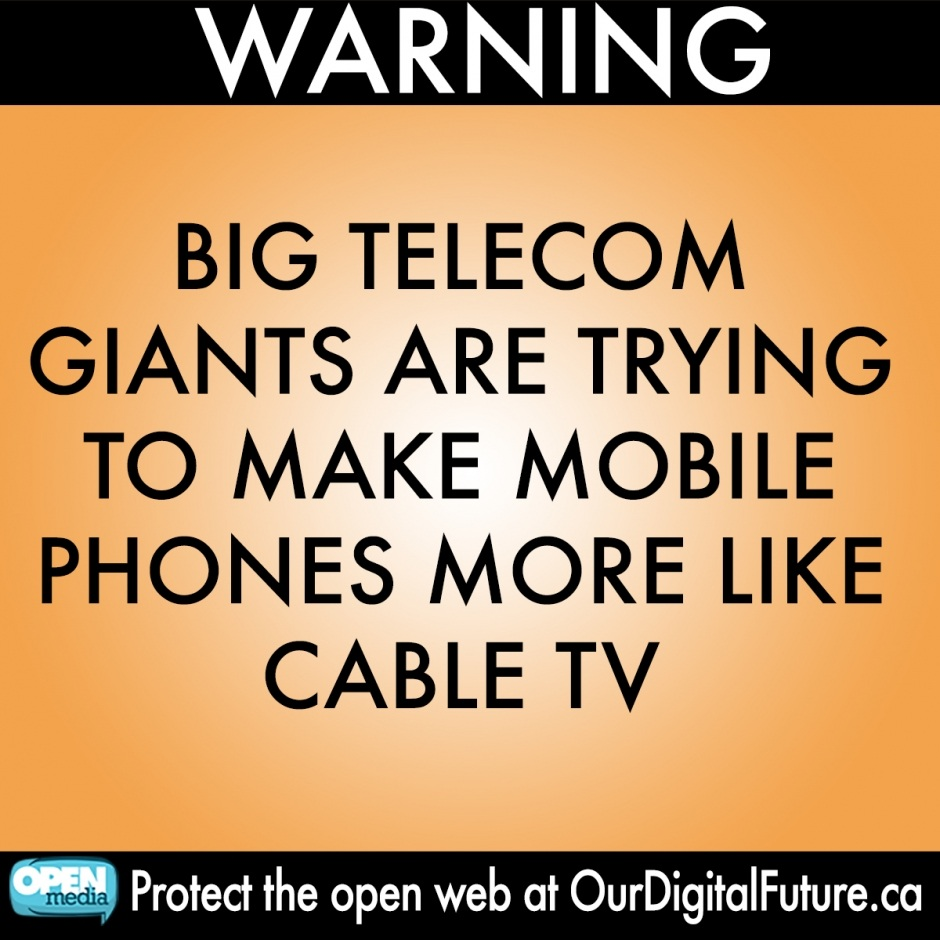 Image for Big Telecom are trying to make the Internet like cable TV and we have to stop them