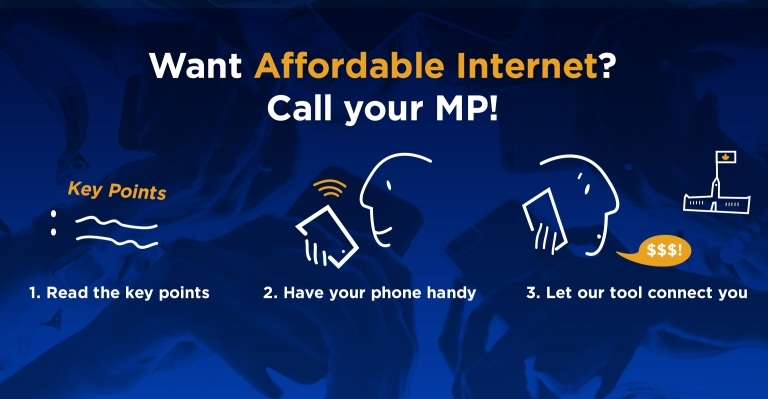 Image for Call your MP and demand affordable Internet for all