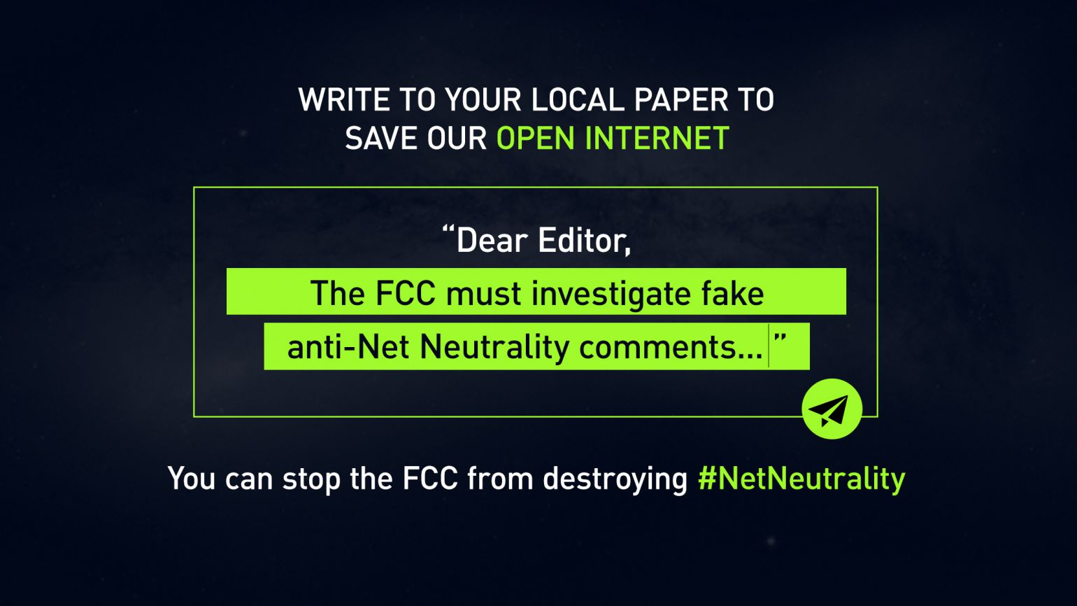Net Neutrality: Make your voice count