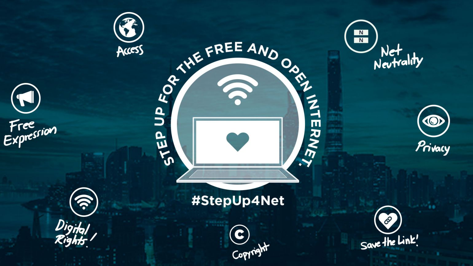 Step up for the free and open internet