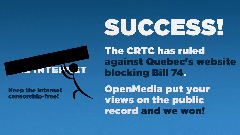 CRTC: Quebec's website blocking Bill violates federal law