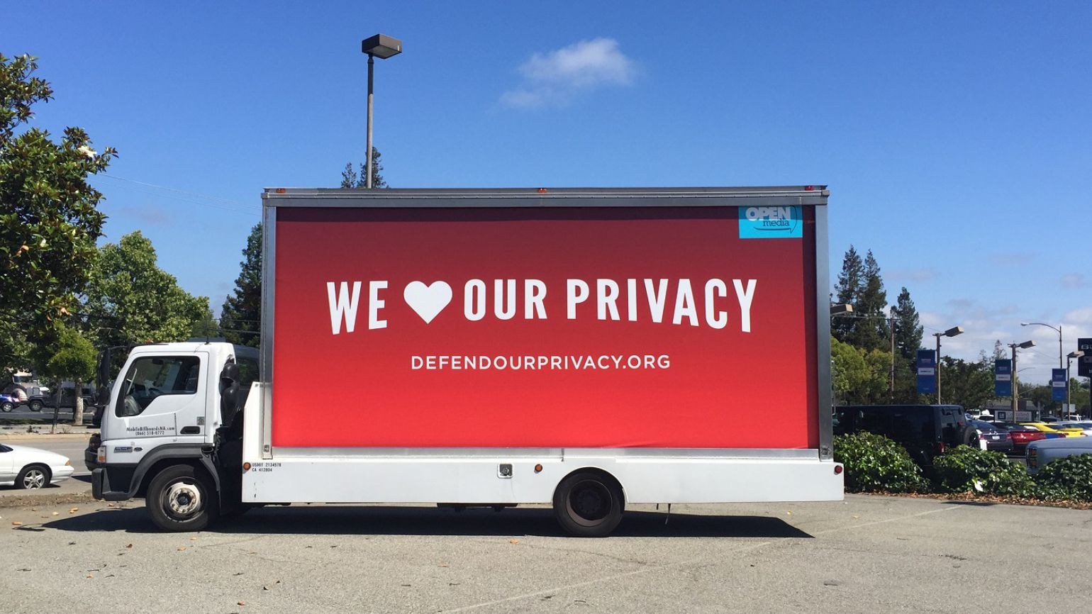 Our billboard in action