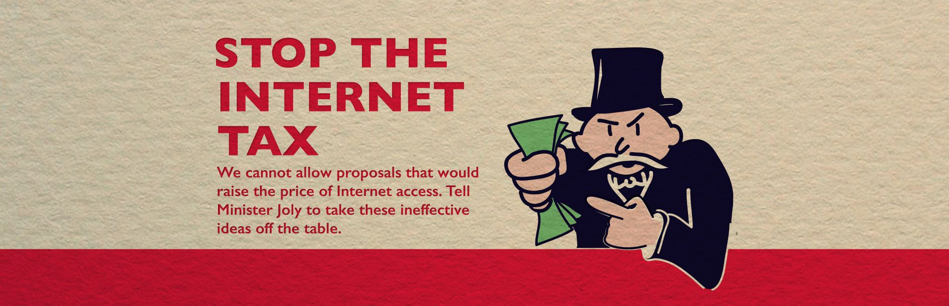 Stop the Internet tax