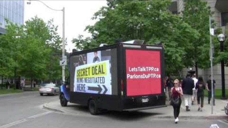 Our TPP Jumbotruck in Toronto