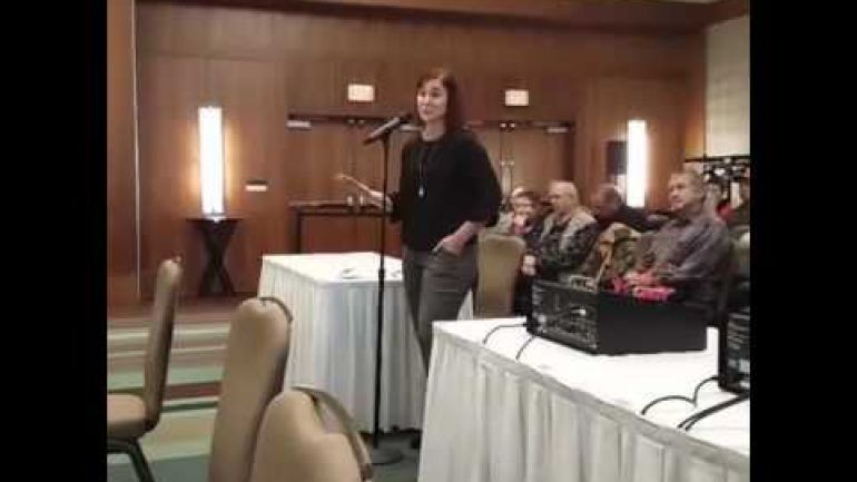 Laura Tribe Testifying at C-51 Public Hearings in Vancouver