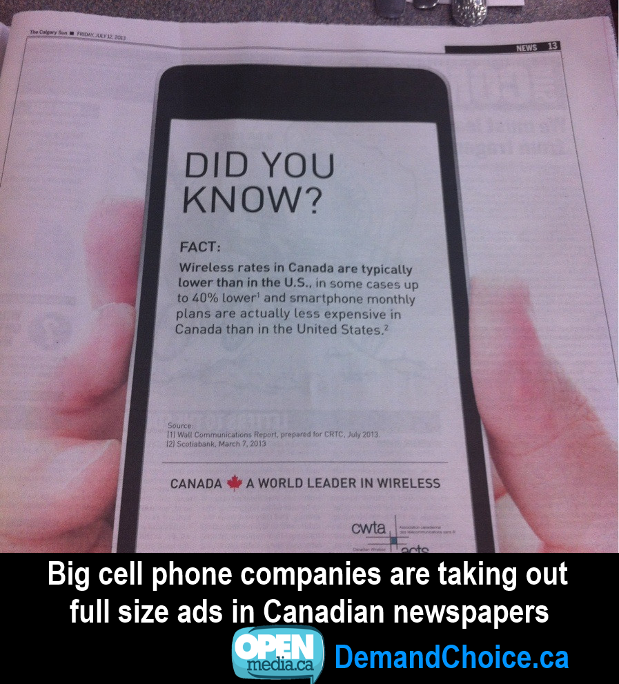 Image for  How Canadians are using the Internet to debunk Big Telecom Spin