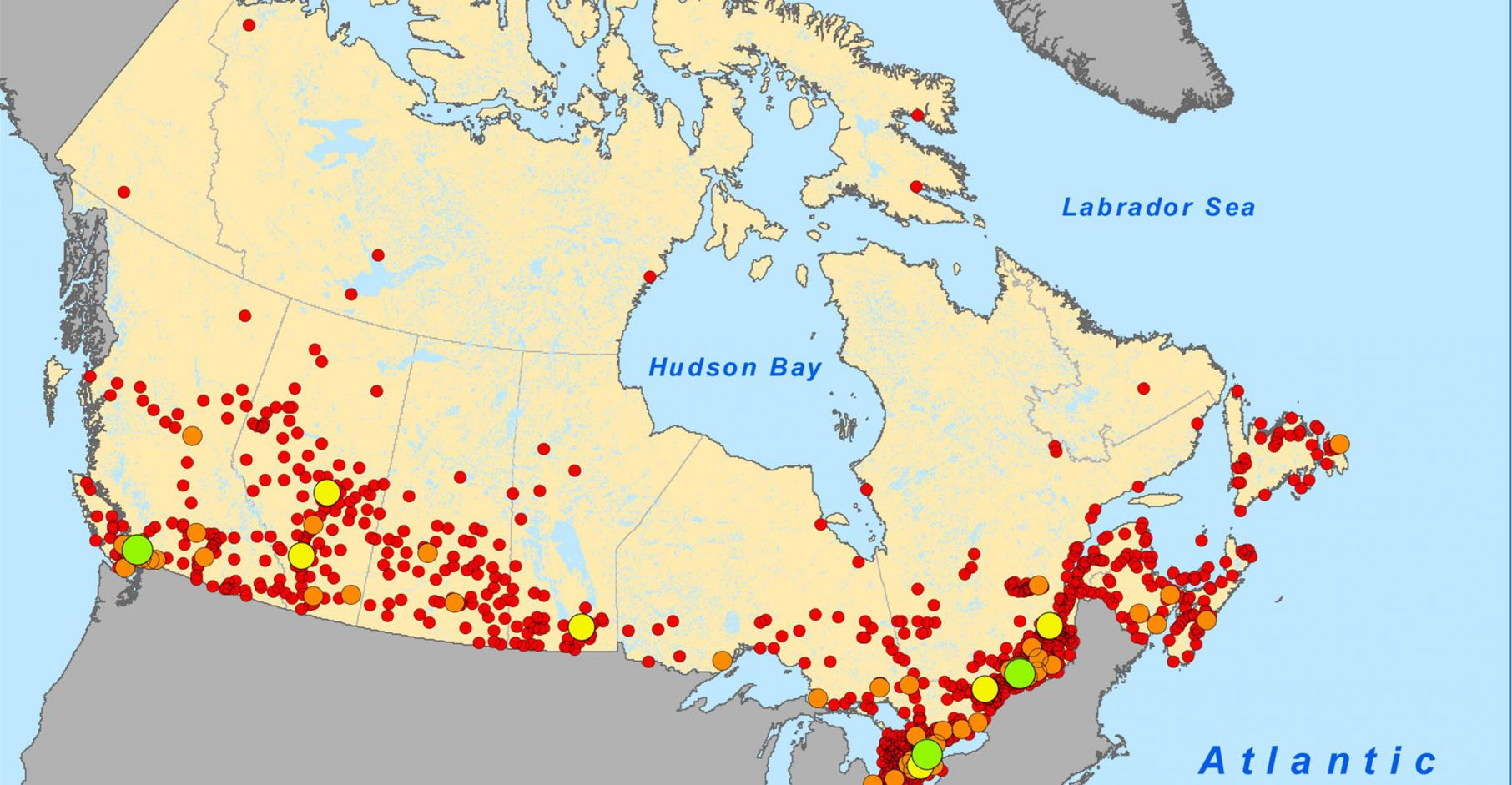 Map Of Canada Population Density.Why Your High Cell Phone Bills Have Nothing To Do With The Size Of